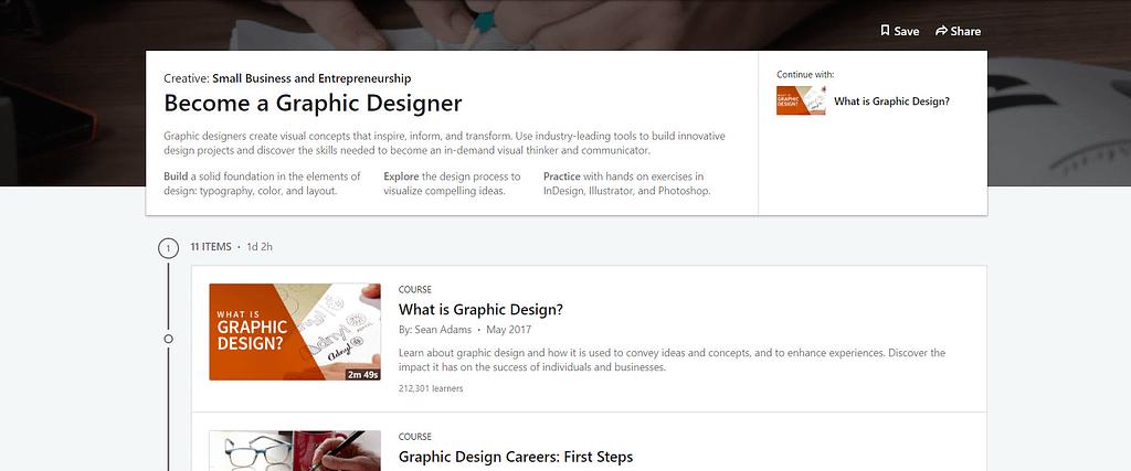 Linkedin Become A Graphic Designer