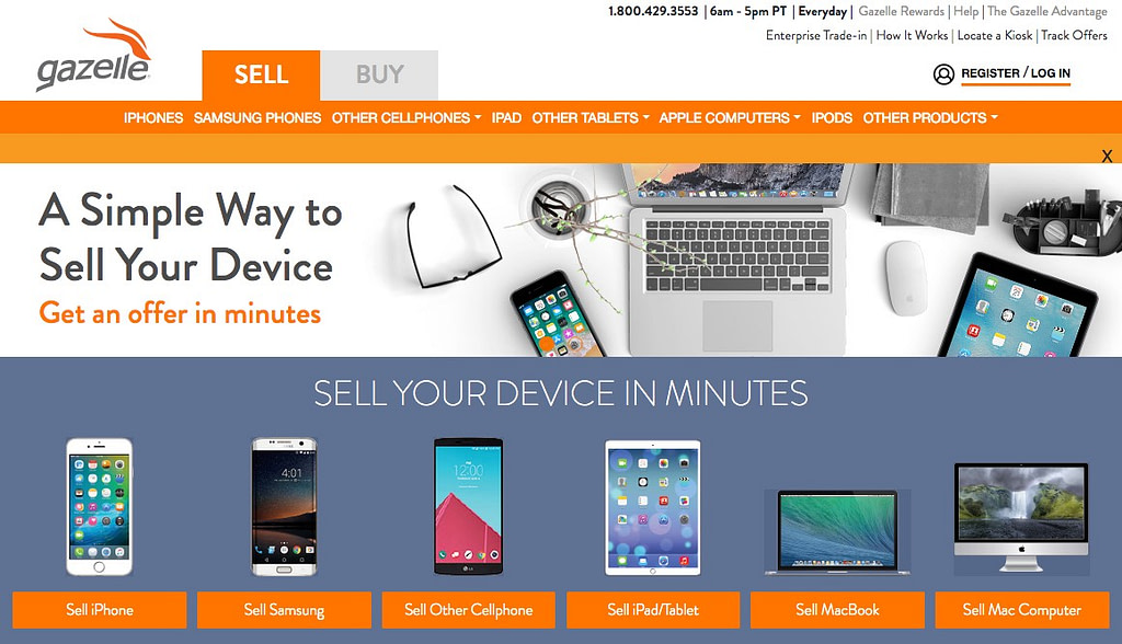 sell your phone mac iPhone gazelle