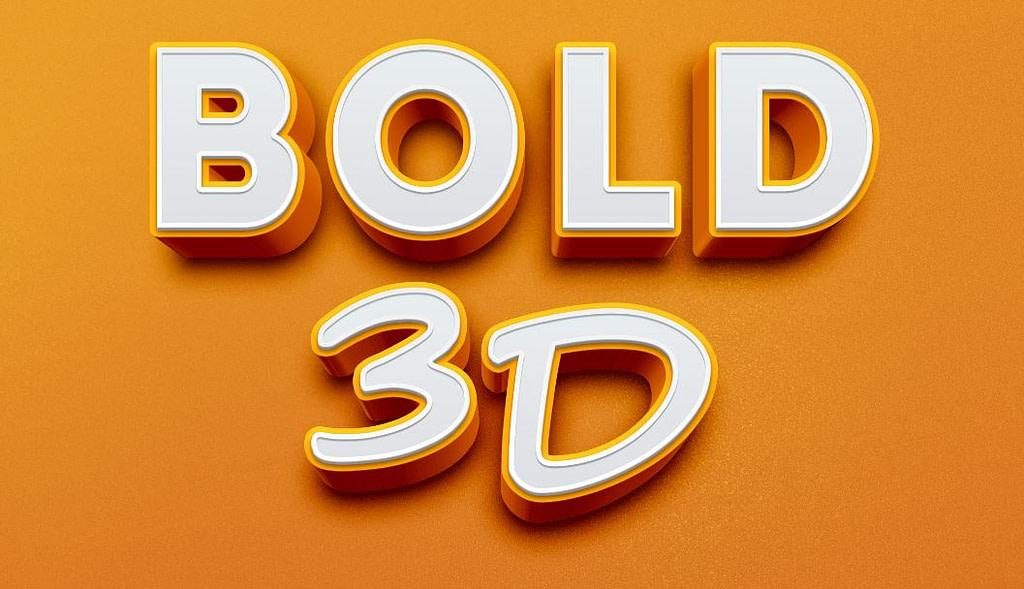 Bold D Text Effect