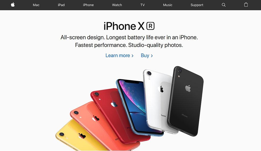 best website designs apple