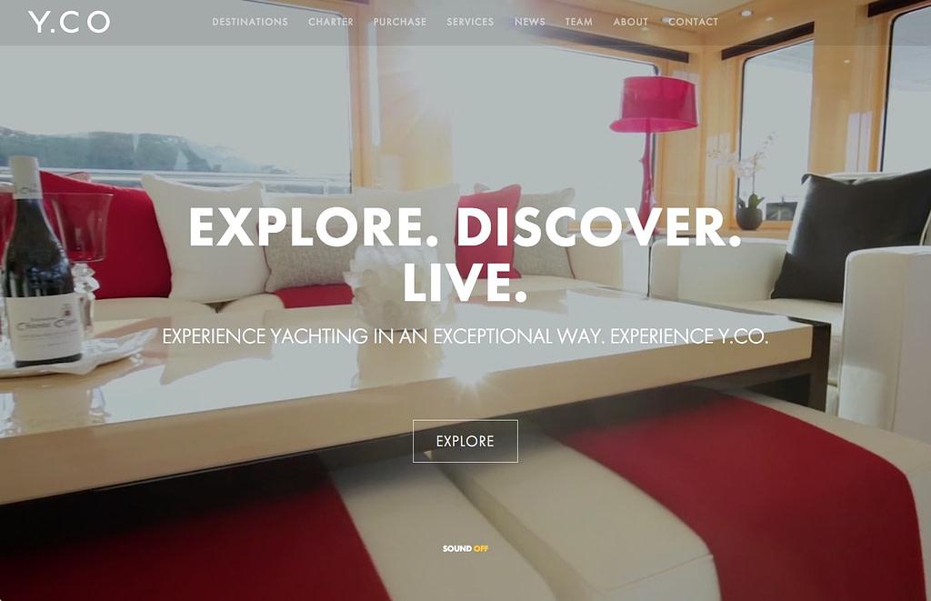 design a luxury product website