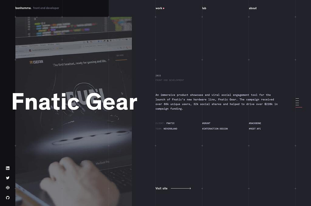 web designer portfolio bonhomme