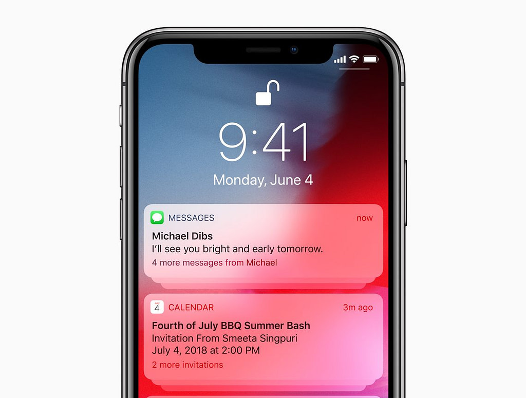 ios group notifications  carousel