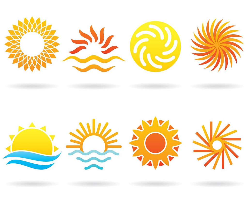 summer design elements sun