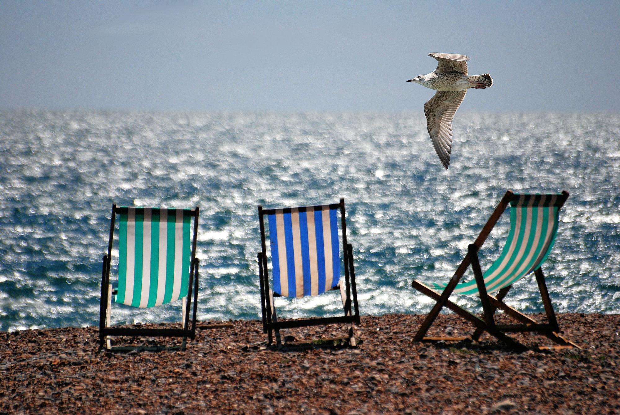 summer stock photos deck chairs