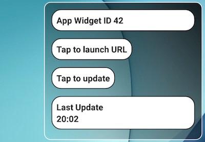 building android app widget