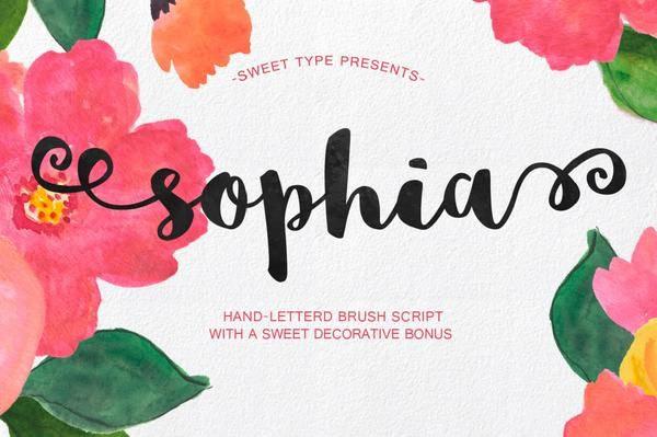 Sophia E Free Handlettered Brush Script Font