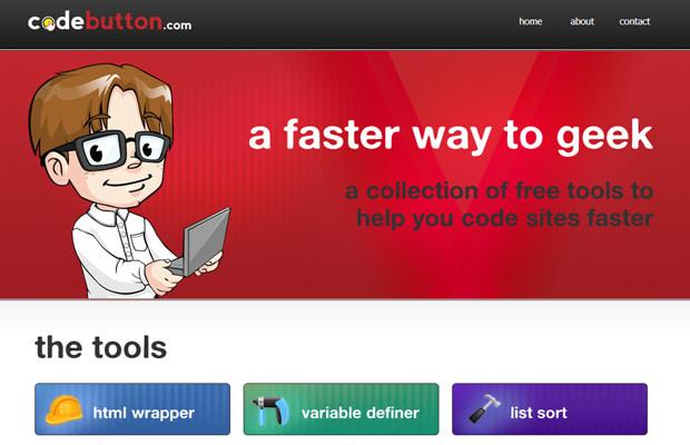 codebutton website layout design inspiring