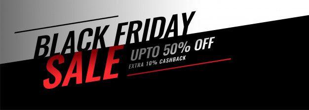 Download Modern Black Friday Sale Banner With Offer Details for free