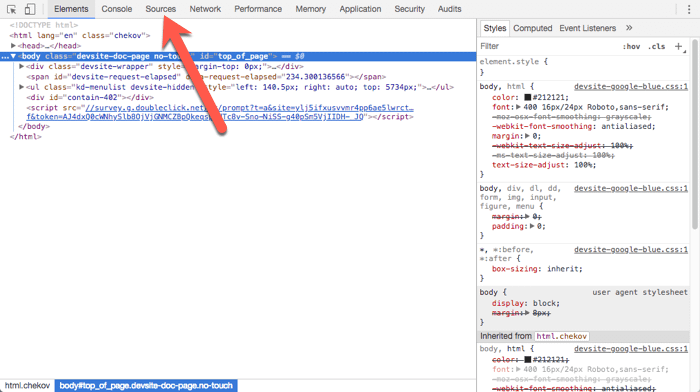 chrome developer tools advanced debugger