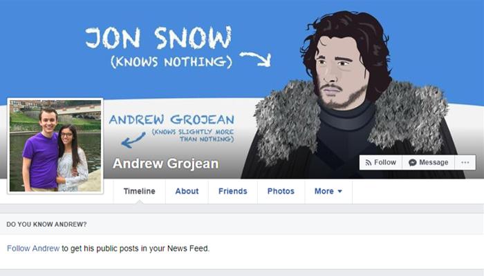 Facebook page design