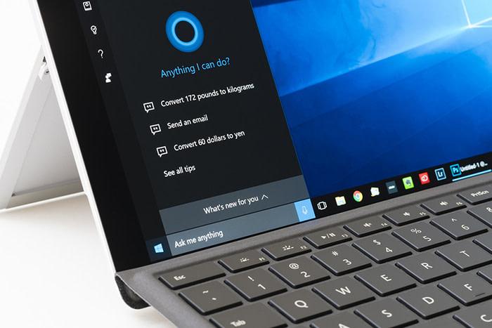 Cortana voice interface