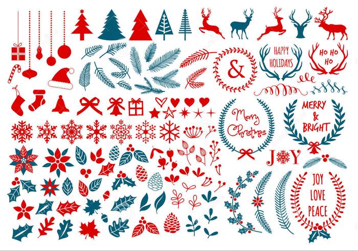 christmas design elements winter design elements