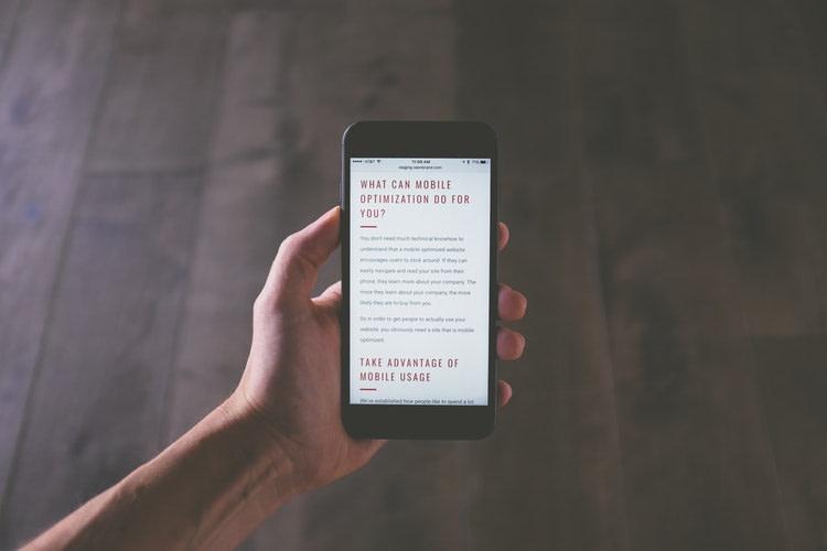 mobile website unsplash