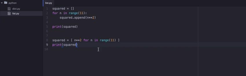 Python comprehensions