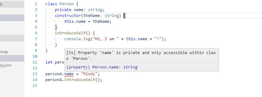 typescript class error
