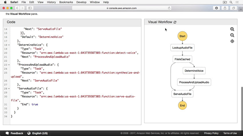 Serverless workflow