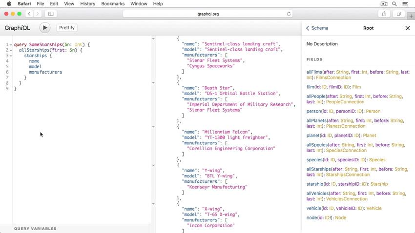 GraphQL screenshot