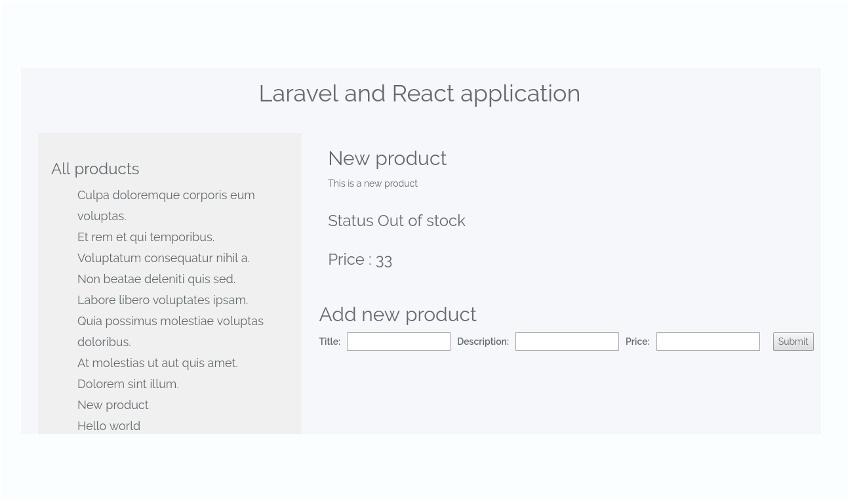 LaravelAndReact BuildingReactApplicationFinalProduct