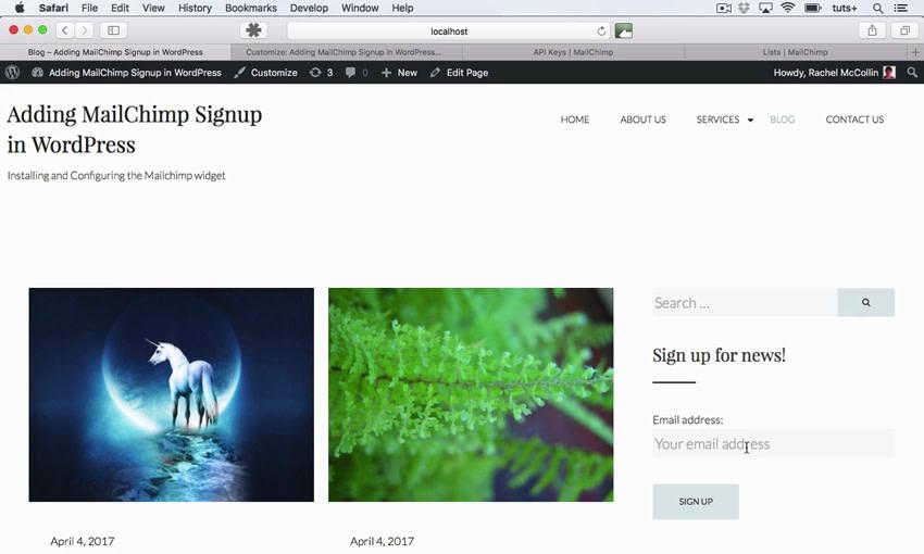 MailChimp site