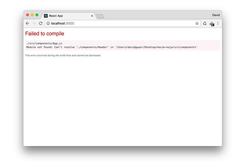header component compile error