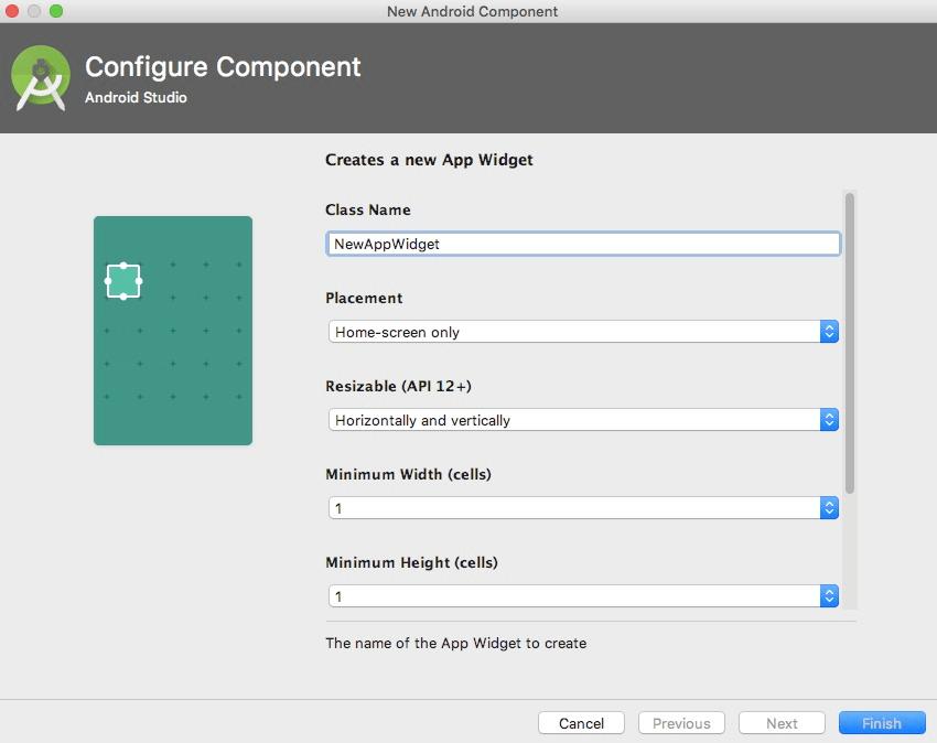 create android app widget appwidget