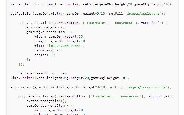 tutorial create virtual pet javascript browser game