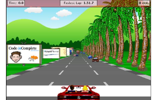 browser ui mobile game javascript racing
