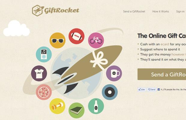 beige brown gift rocket website layout