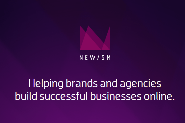 Newism web design studio homepage layout purple colors