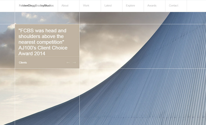 fcb feilden clegg bradley studios website layout