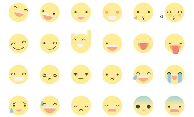 cute yellow animated smiley icons