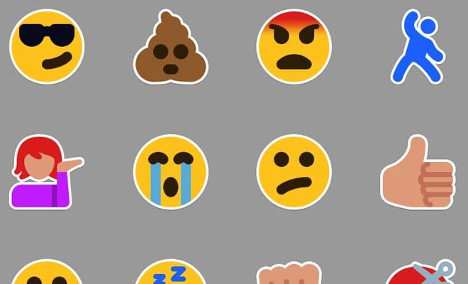 bright stickers emoticons
