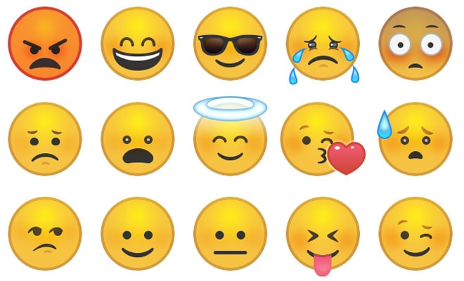 goofy faces smilies yellow