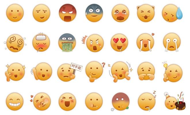 emoticons big circle faces